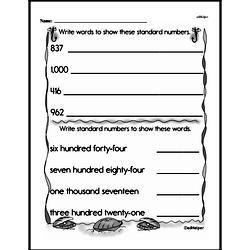 Second Grade Place Value Worksheets Worksheet #4