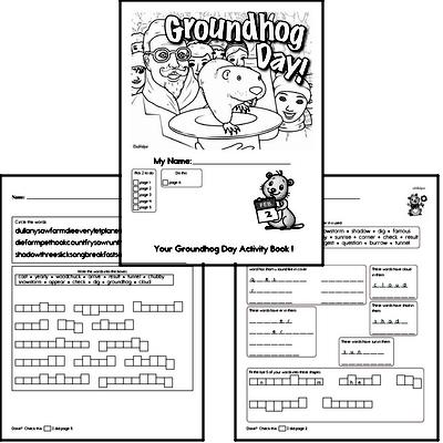 Second Grade Groundhog Day Worksheets Activity Book
