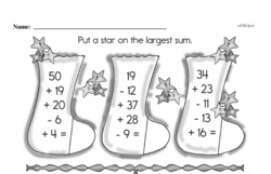 Free Second Grade Subtraction PDF Worksheets Worksheet #43