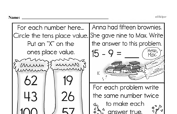 Free Second Grade Subtraction PDF Worksheets Worksheet #68