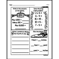 Free Second Grade Subtraction PDF Worksheets Worksheet #121