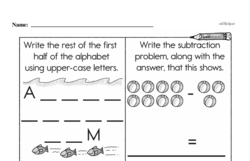 Free Second Grade Subtraction PDF Worksheets Worksheet #41