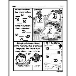 Free Second Grade Subtraction PDF Worksheets Worksheet #114