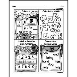 Free Second Grade Subtraction PDF Worksheets Worksheet #42