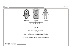 Free Second Grade Subtraction PDF Worksheets Worksheet #91