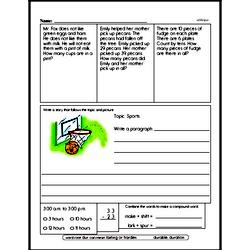 Free Second Grade Subtraction PDF Worksheets Worksheet #3