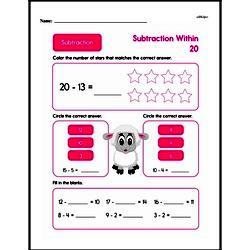 Second Grade Subtraction Worksheets Worksheet #4
