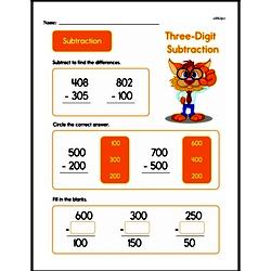 Second Grade Subtraction Worksheets Worksheet #5