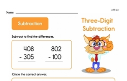 Subtraction Worksheets - Free Printable Math PDFs Worksheet #4