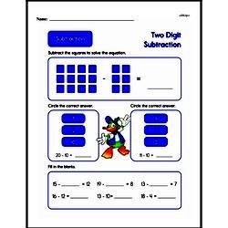 Second Grade Subtraction Worksheets Worksheet #6