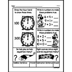 Free Second Grade Time PDF Worksheets Worksheet #17