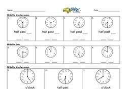 Easy Time Worksheets