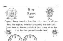 Free Second Grade Time PDF Worksheets Worksheet #5