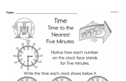Free Second Grade Time PDF Worksheets Worksheet #6