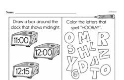 Free Second Grade Time PDF Worksheets Worksheet #29