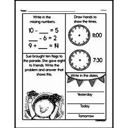 Free Second Grade Time PDF Worksheets Worksheet #10