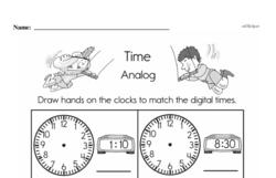 Free Second Grade Time PDF Worksheets Worksheet #1