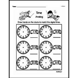 Free Second Grade Time PDF Worksheets Worksheet #2