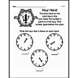 Free Second Grade Time PDF Worksheets Worksheet #20