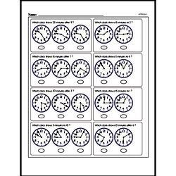 Free Second Grade Time PDF Worksheets Worksheet #37