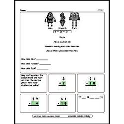 Free Second Grade Time PDF Worksheets Worksheet #38