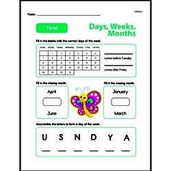 Second Grade Time Worksheets Worksheet #8