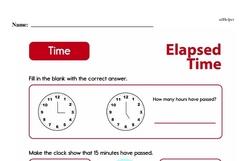 Second Grade Time Worksheets Worksheet #9