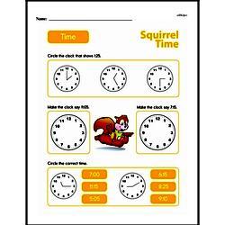 Second Grade Time Worksheets Worksheet #12