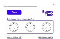 Second Grade Time Worksheets Worksheet #13