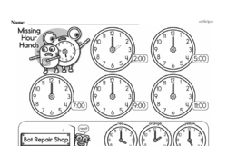 Free Second Grade Time PDF Worksheets Worksheet #21
