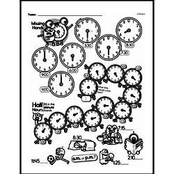 Free Second Grade Time PDF Worksheets Worksheet #14