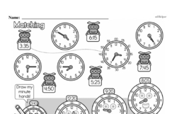 Free Second Grade Time PDF Worksheets Worksheet #44