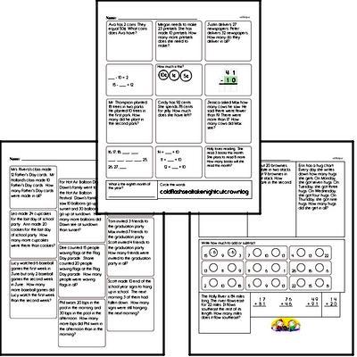 Word Problems Workbook (all teacher worksheets - large PDF)