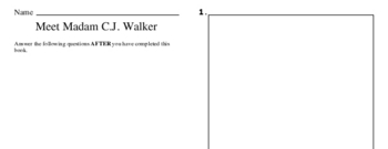 Second Grade Black History Reading and Writing Workbook