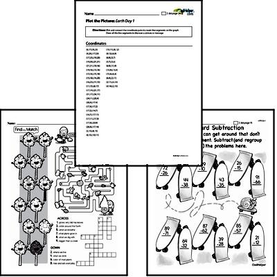 2nd grade: Earth Day and Caring for Earth Math Challenge Workbook