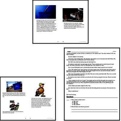 2nd grade: Earth Day Reading Comprehension Workbook with Math