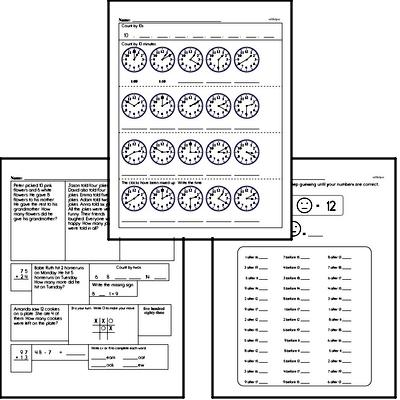 January Fun Packets - Small 5-7 Page Worksheets<BR>Use for homework, in the classroom, or for fast finishers.