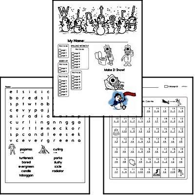 Winter Activity No Prep Workbook Worksheets