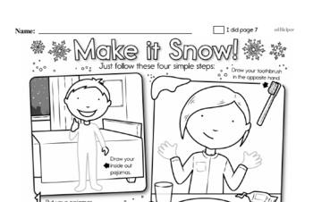 Second Grade Winter Activity No Prep Workbook Worksheets