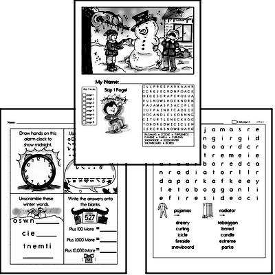 Second Grade Winter Activity Book for December