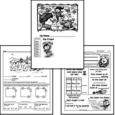 winter activity worksheets for january book2 grade2