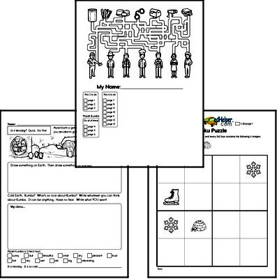 Winter Activity Book for Start of January