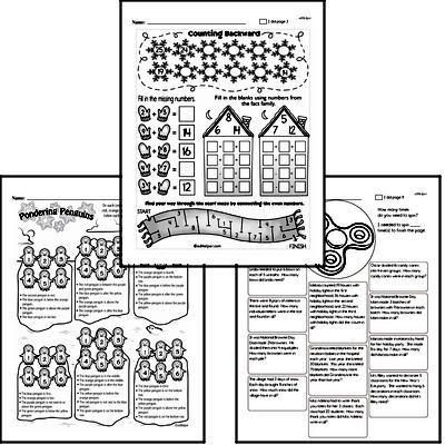 Second Grade Winter Math Challenge Workbook