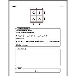 Addition Logic with Math Number Comparisons Challenge Problem