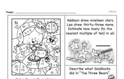 Free Third Grade Addition PDF Worksheets Worksheet #52