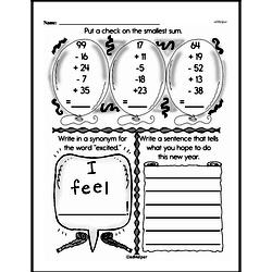 Free Third Grade Addition PDF Worksheets Worksheet #91