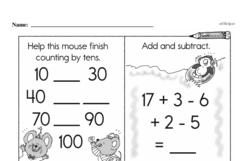 Free Third Grade Addition PDF Worksheets Worksheet #50