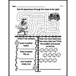 Free 3.NBT.A.2 Common Core PDF Math Worksheets Worksheet #58