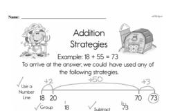 Third Grade Addition Worksheets Worksheet #1