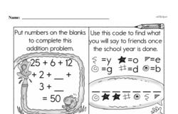 Free Third Grade Addition PDF Worksheets Worksheet #80